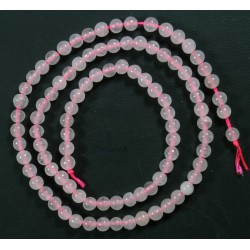 Collar Cuarzo Rosa 4mm