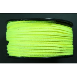 Cordon antelina Amarillo Fluor 2.8mm
