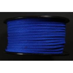 Cordon Antelina Azul Fluor 2.8mm