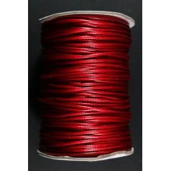Cordon Algodon Encerado Rojo 1.5mm