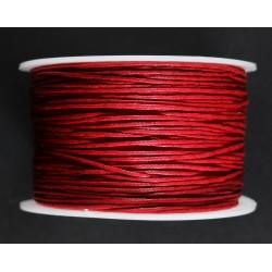 Cordon de Algodon Rojo 1mm