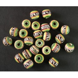 Cuentas Ceramica Esmaltada 96