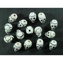 Cuentas Ceramica Calaveras 7