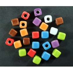 Cuentas Ceramica Cubo Multicolor