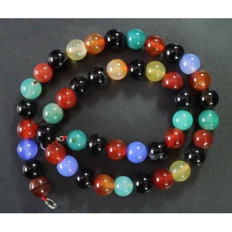Collar Agata Multicolor 10mm
