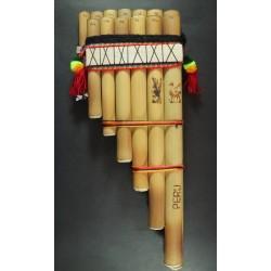 Zampoña Afinada de Bambu