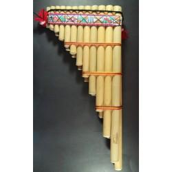 Zampoña Toyo Afinada de Bambu