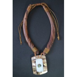 Collar Madera Abalon 11