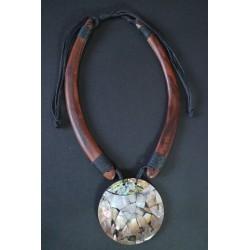 Collar Madera Abalon 12
