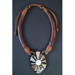 Collar Madera Abalon 14