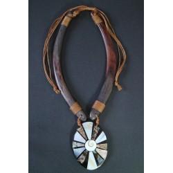 Collar Madera Abalon 15