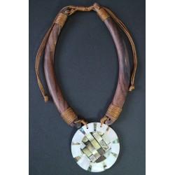 Collar Madera Abalon