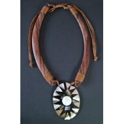 Collar Madera Abalon 17