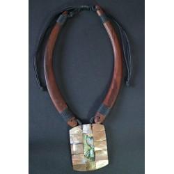 Collar Madera Abalon 20