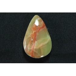 Piedra Ranurada Onix Verde Oval