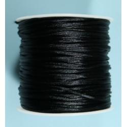 Cordon Cola de Raton Negro 1.5mm