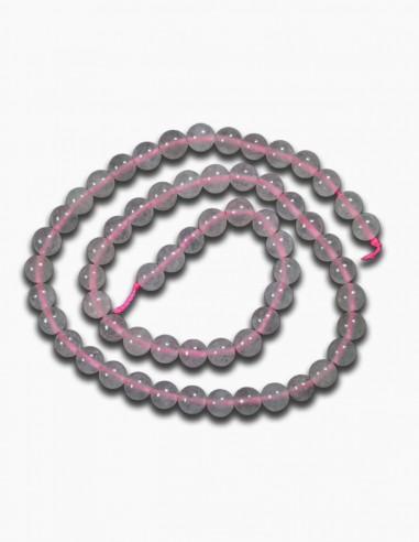 Cuarzo Rosa Collar Piedra 6mm