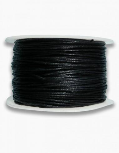 Cordon de Algodon Negro 1mm