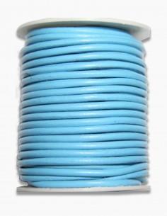 Cordon de Cuero Turquesa 3 mm