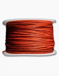 Cordon de Algodon Naranja 1mm