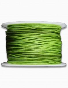 Cordon de Algodon Verde P 1mm
