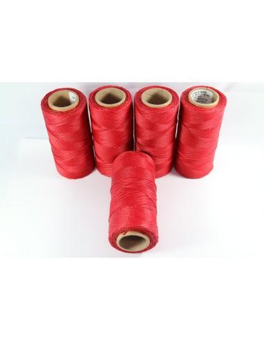 Hilo Encerado Linhasita 1mm. Rojo...
