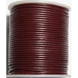 Cordon de Cuero Rojo Vino  2mm