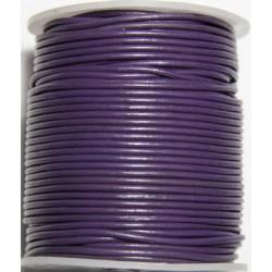 Cordon de Cuero Lila 2mm