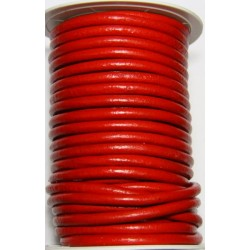 Cordon de Cuero Rojo 6 mm