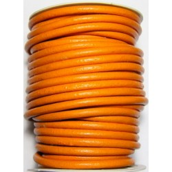 Cordon de Cuero Naranja 6 mm