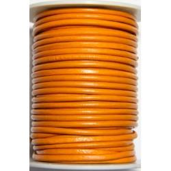 Cordon de Cuero Naranja 3 mm