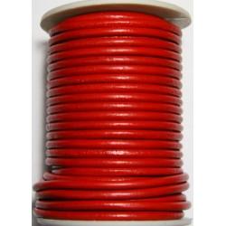 Cordon de Cuero Rojo 4 mm