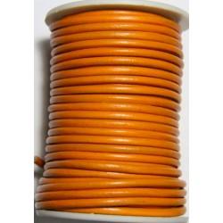Cordon de Cuero Naranja 4 mm