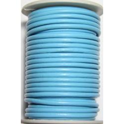 Cordon de Cuero Turquesa 4 mm