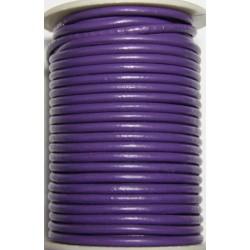 Cordon de Cuero Morado 4 mm