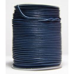 Cordon de Cuero Azul 1.5 mm