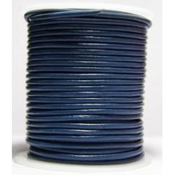 Cordon de Cuero Azul 2.5 mm