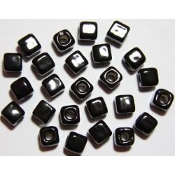 Cuentas Ceramica Cubo Negro