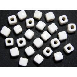 Cuentas Ceramica Cubo Blanco