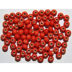 Cuentas Ceramica Monocolor Rojo 6mm