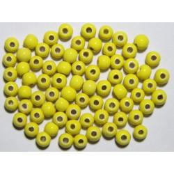 Cuentas Ceramica Monocolor Amarillo 8mm