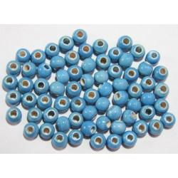 Cuentas Ceramica Monocolor Turquesa 8mm