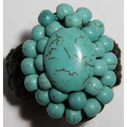 anillo hilo encerado piedra 1