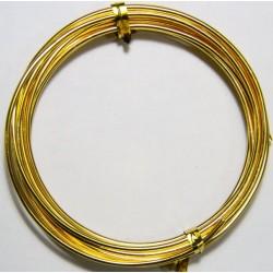 Alambre de Aluminio Dorado 2mm