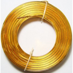 Alambre Aluminio Dorado 2mm