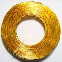 Alambre Aluminio Dorado 1mm
