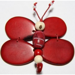 Broche Tawa Libelula Rojo