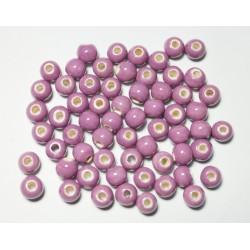 Cuentas Ceramica Monocolor Lila 8mm