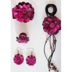 Set Accesorio Cuero Rosa