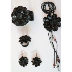 Set Accesorio Cuero Negro